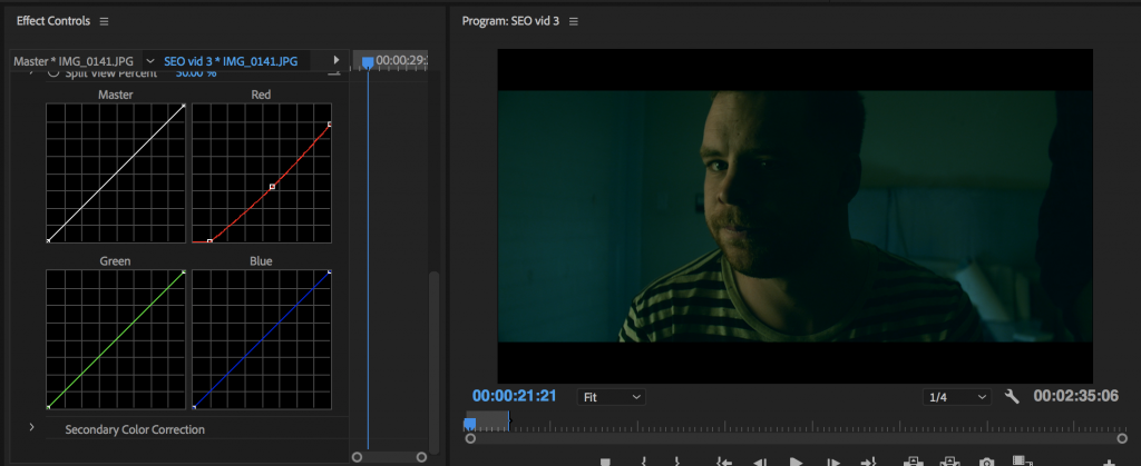 How to color grade using curves to create cinematic footage